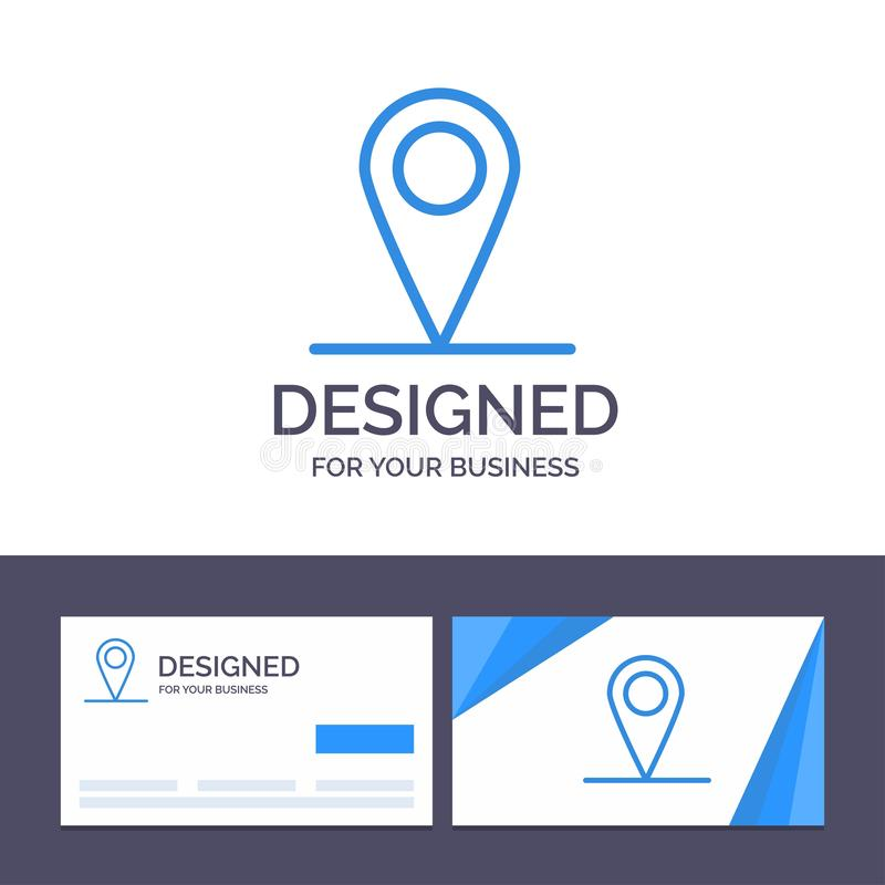 Creative Business Card and Logo template Location, Map, Interface Vector Illustration royalty free illustration