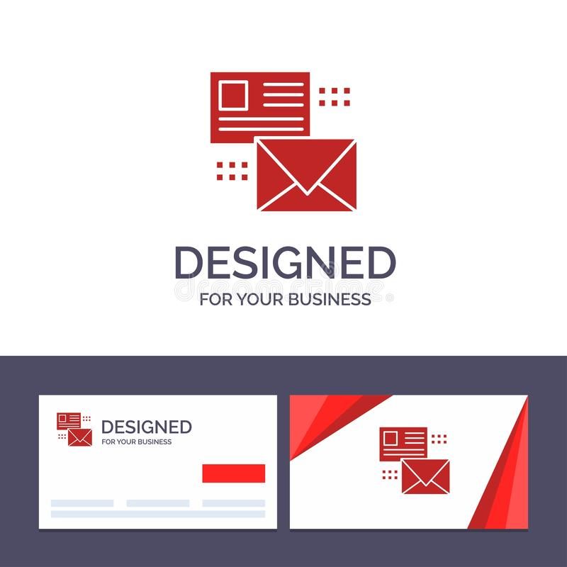 Creative Business Card and Logo template Mailing, Conversation, Emails, List, Mail Vector Illustration stock illustration