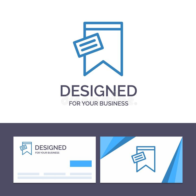 Creative Business Card and Logo template Mark, Tag, Sign, Text Vector Illustration royalty free illustration
