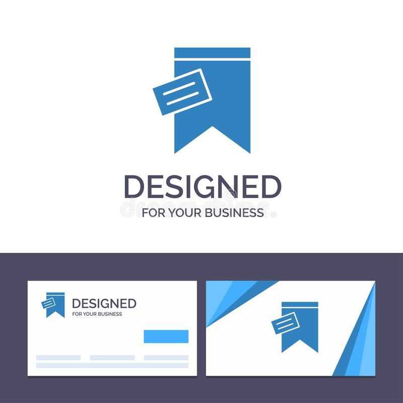 Creative Business Card and Logo template Mark, Tag, Sign, Text Vector Illustration vector illustration