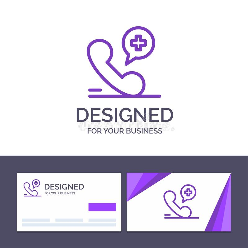 Creative Business Card and Logo template Mobile, Phone, Medical, Hospital Vector Illustration stock illustration