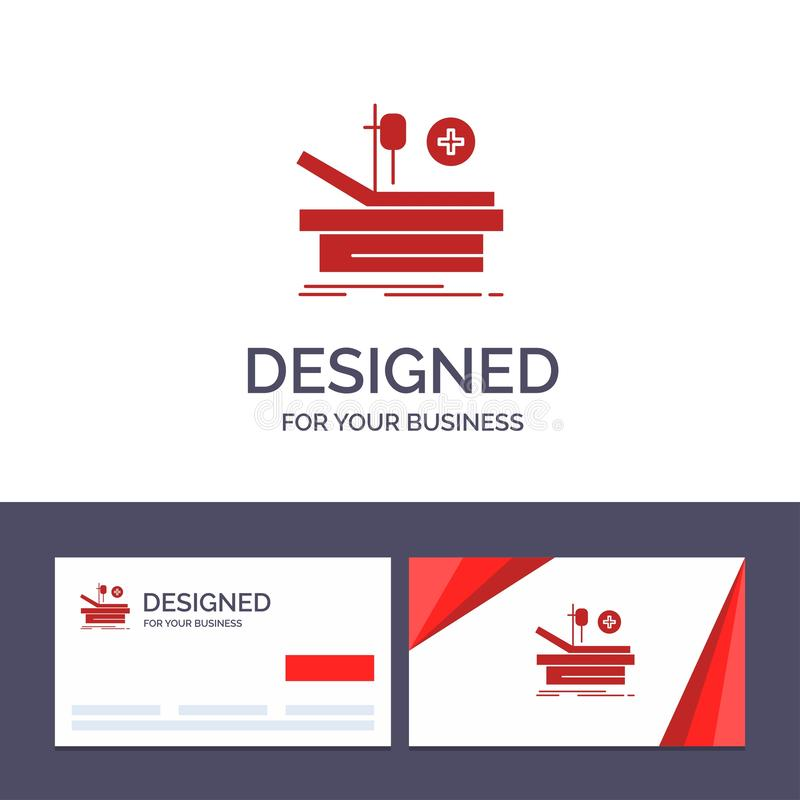 Creative Business Card and Logo template Operation, Theater, Medical, Hospital Vector Illustration stock illustration