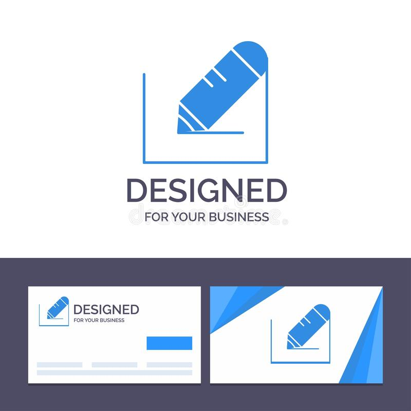 Creative Business Card and Logo template Pencil, Write, Text, School Vector Illustration vector illustration