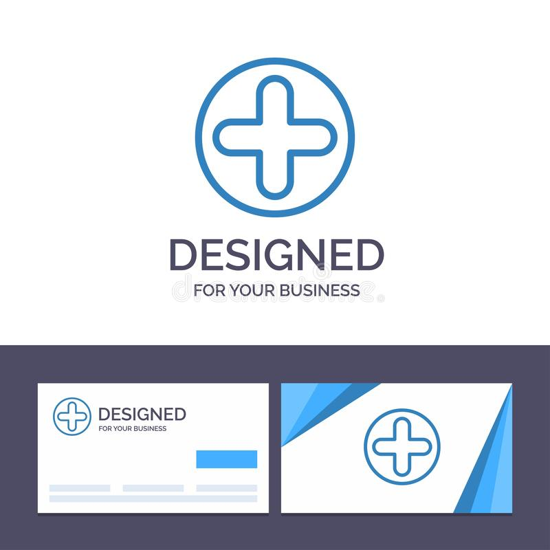 Creative Business Card and Logo template Plus, Sign, Hospital, Medical Vector Illustration stock illustration