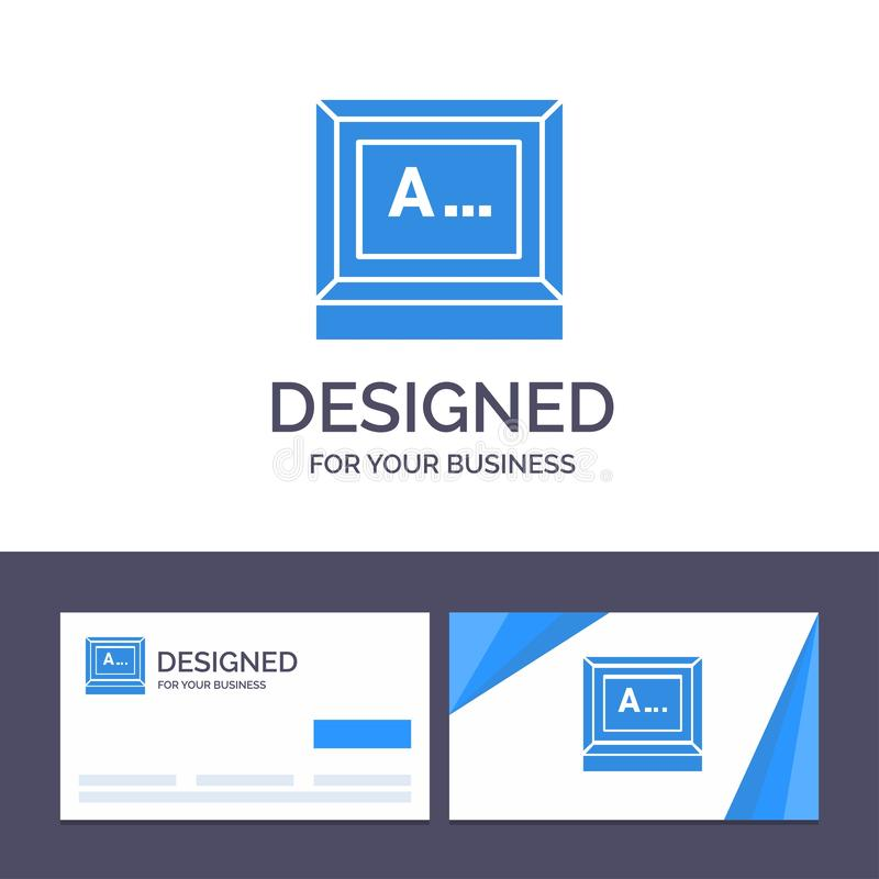 Creative Business Card and Logo template Screen, Typing, Text, Monitor Vector Illustration royalty free illustration