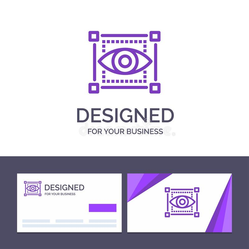 Creative Business Card and Logo template Visual, View, Sketching, Eye Vector Illustration royalty free illustration