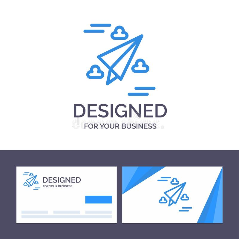 Creative Business Card and Logo template Web, Design, Paper, Fly Vector Illustration stock illustration