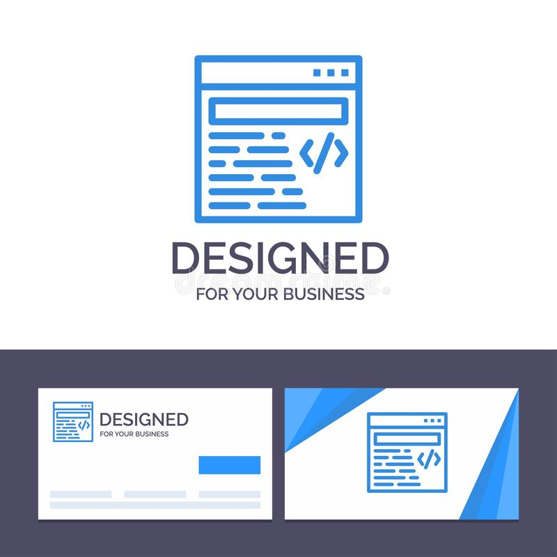 Creative Business Card and Logo template Web, Design, Text Vector Illustration stock illustration