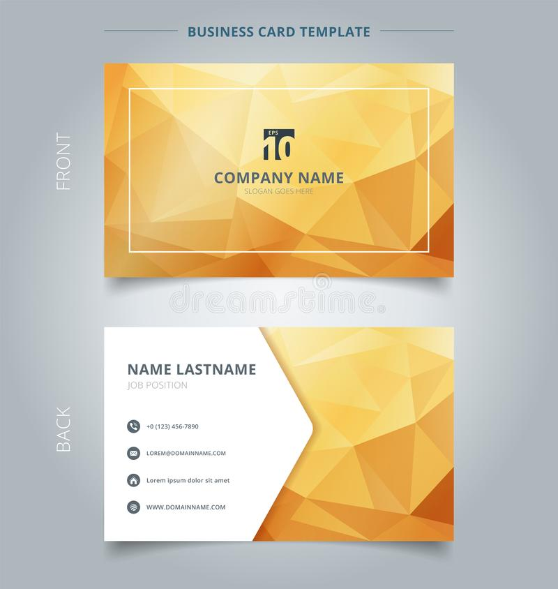 Creative Business Card And Name Card Template Abstract Yellow An ...