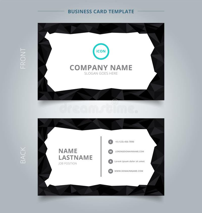 Creative business card and name card template black low polygon download creative business card and name card template black low polygon stock vector illustration of colourmoves