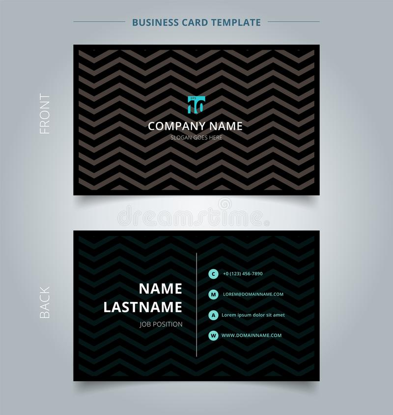 Creative Business Card And Name Card Template, Chevron Pattern O ...