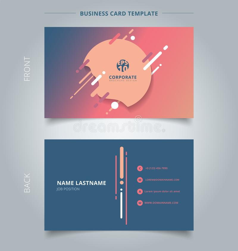 Creative Business Card And Name Card Template Geometric Splash ...