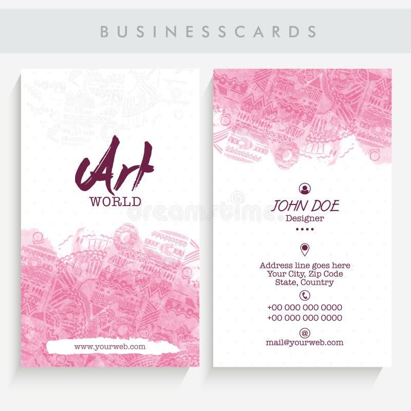 Download Creative Business Card Set Stock Illustration