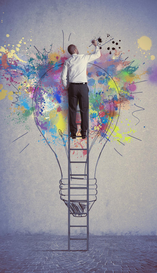 Download Creative business idea stock photo. Image of object, imagination - 28214274