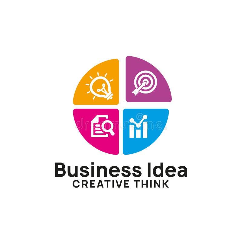creative business idea logo design template royalty free illustration