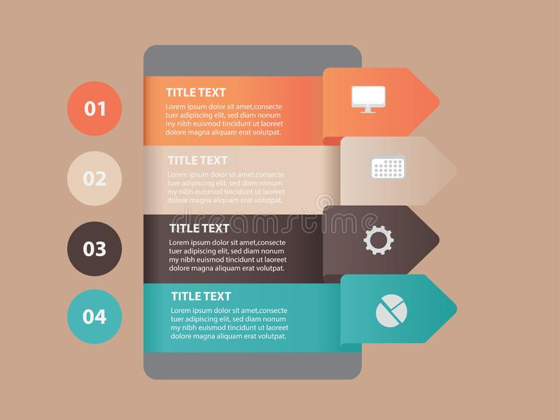 Creative Business Infographic Element with creative design illustration. - Vector royalty free illustration