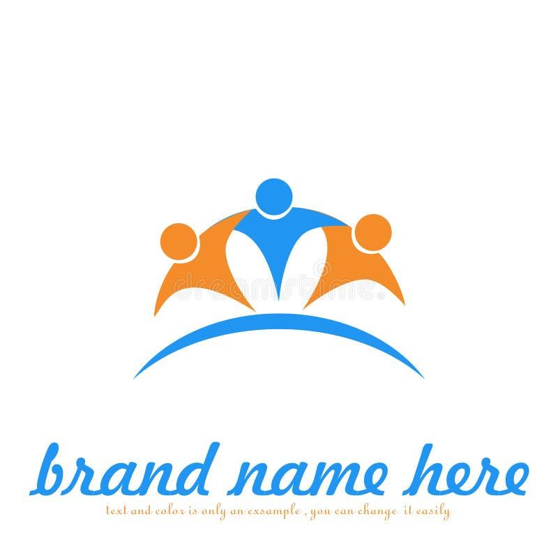 Concept people logo stock illustration
