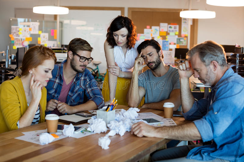 Creative business team having a brainstorming session. In office royalty free stock photos