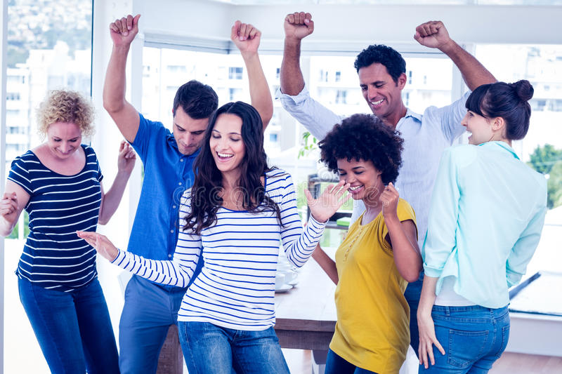 Creative business team having fun. In the office royalty free stock photo