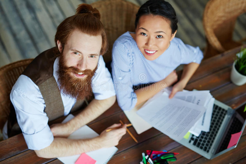 Creative Business Team in Office royalty free stock photos
