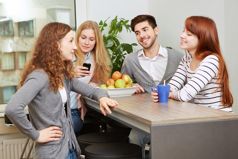 Creative business team taking break stock photos