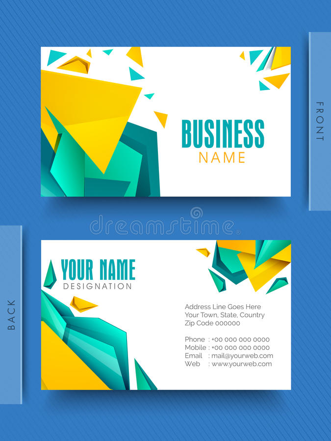 Creative business or visiting card stock illustration abstract creative business or visiting card design for your company reheart Images