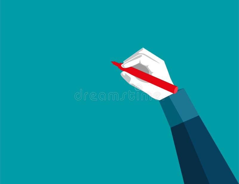 Creative businessman working. Concept business illustration. Vector flat royalty free illustration