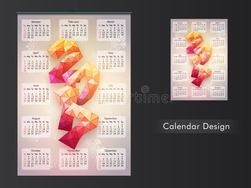 Creative Calendar Planner Design : Creative calendar planner for stock illustration
