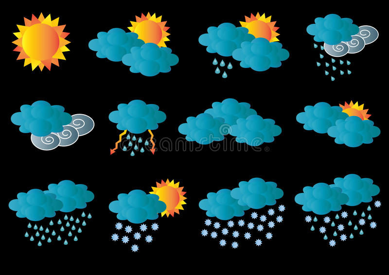 Download Creative Card With All Meteorology Symbols Stock Illustration - Image: 21143953