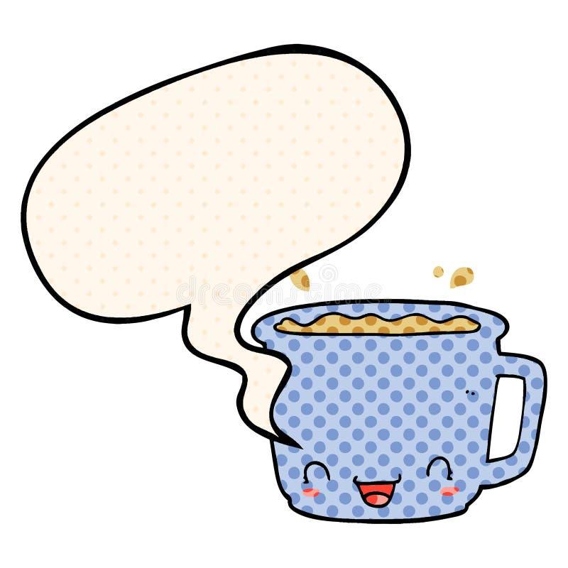 Cute Speech Cup Mug Book Dots Bubble Style Tea Comic Coffee Cartoon bYyf6g7