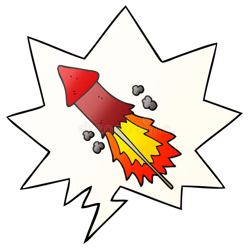 A creative cartoon firework and speech bubble in smooth gradient style. An original creative cartoon firework and speech bubble in smooth gradient style stock illustration