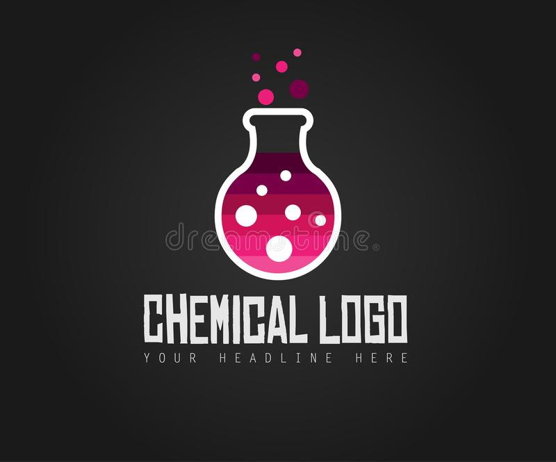 Creative Chemical Colorful Logo design for brand identity, comp stock illustration