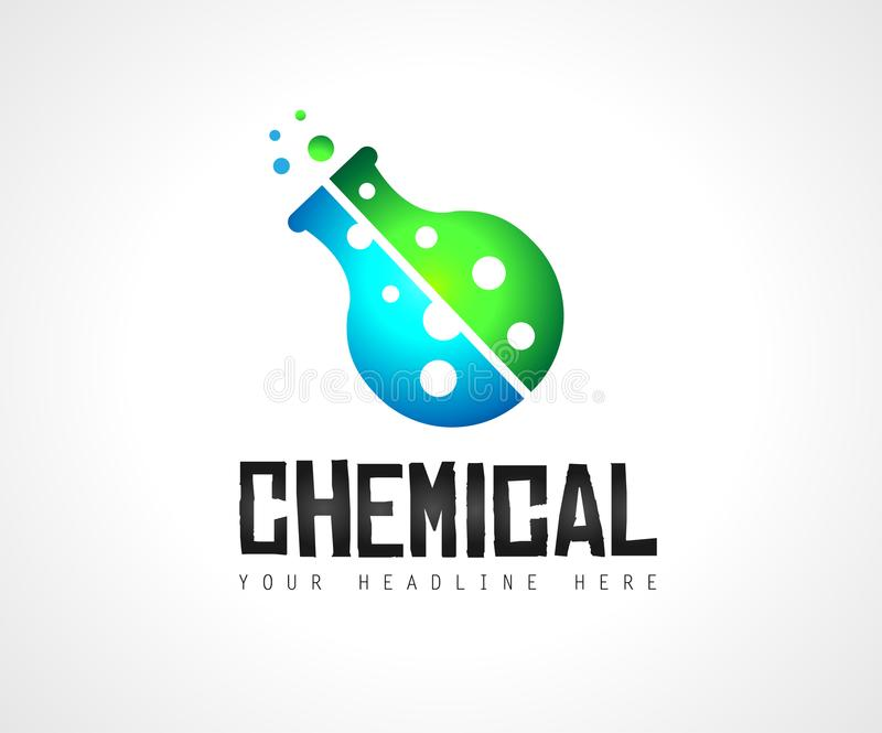 Creative Chemical Lab Colorful Logo design for brand identity, c royalty free illustration