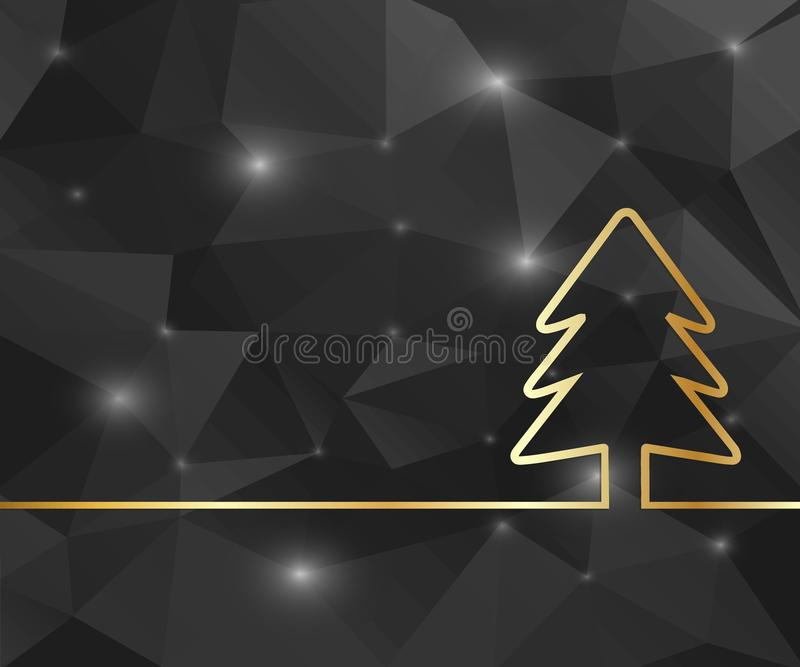 Creative Christmas tree. Art illustration template background. For presentation, layout, brochure, logo, page, print, banner,. Abstract Creative concept vector illustration