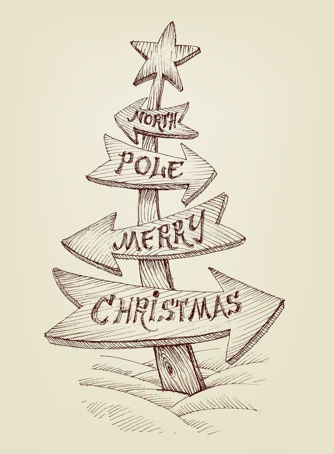Creative Christmas tree royalty free illustration