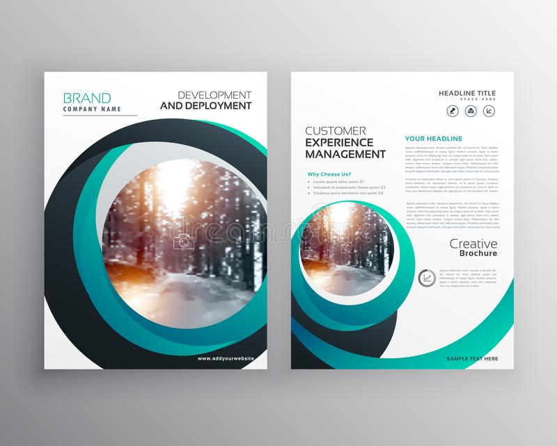 Creative cicular shape business flyer brochure poster design template in size A4 vector illustration