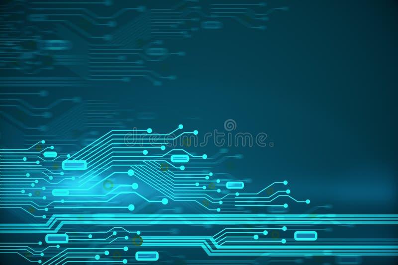 Creative circuit backdrop stock illustration