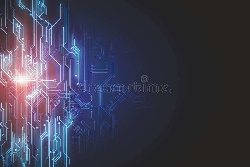 Creative circuit wallpaper vector illustration