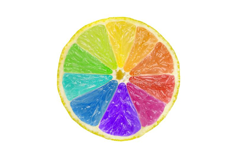 Creative Citrus Color Wheel stock photo