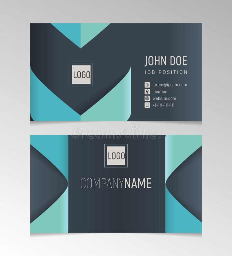 Creative and clean business card template black and blue colors download creative and clean business card template black and blue colors stock vector illustration of colourmoves Images