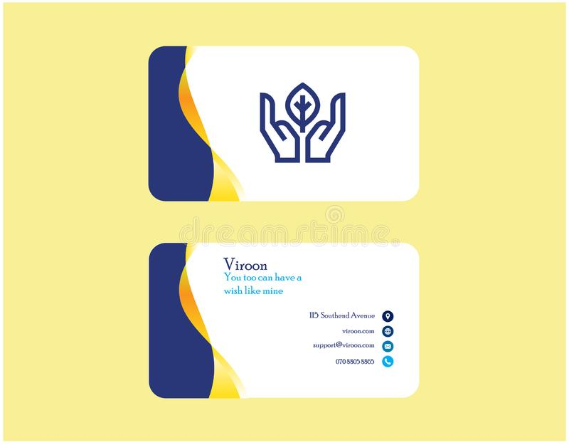 Creative and Clean Business Card Template. Vector Modern Creative and Clean Business Card Template for business royalty free illustration