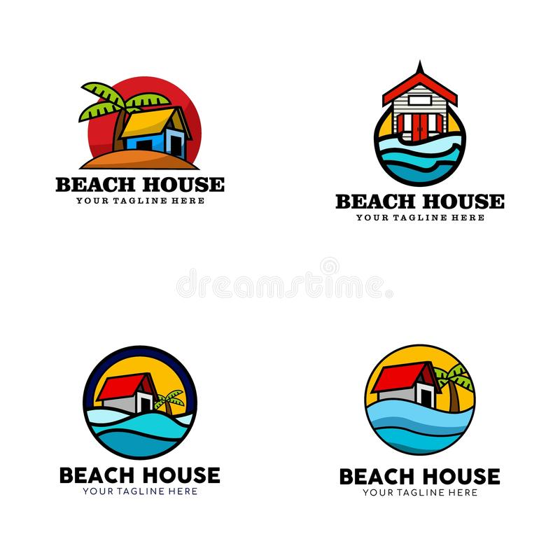 Creative Beach House Logo Design Vector Art Logo. Creative and clever beach house Logo Design for various used and purposed just for you the great people royalty free illustration