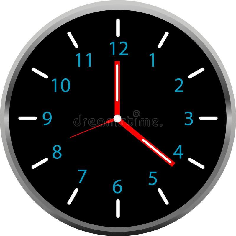 Creative clock face design. royalty free stock image