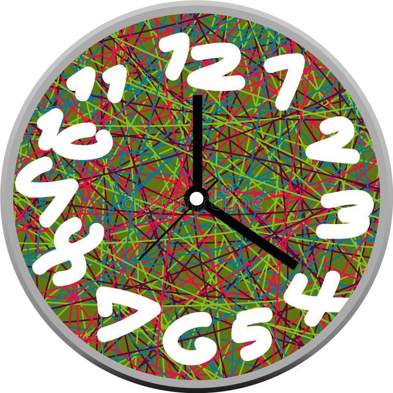 Creative clock face design. stock photography