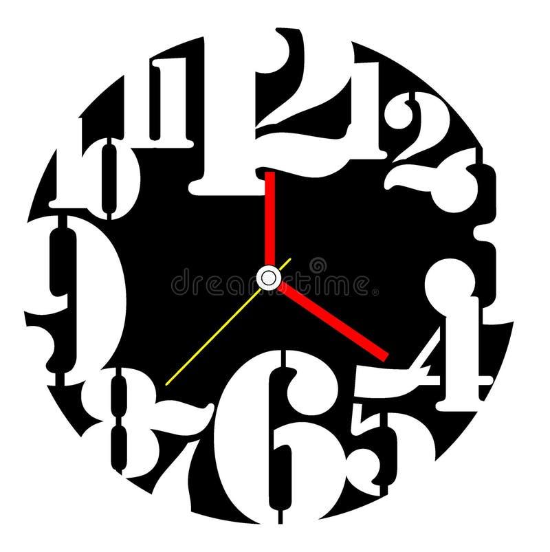 Creative clock face design. royalty free stock photos