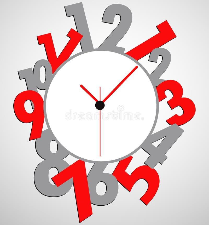 Creative clock face design. royalty free stock photo