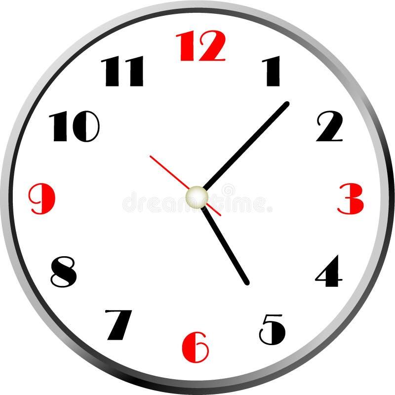 Creative clock face design. stock image