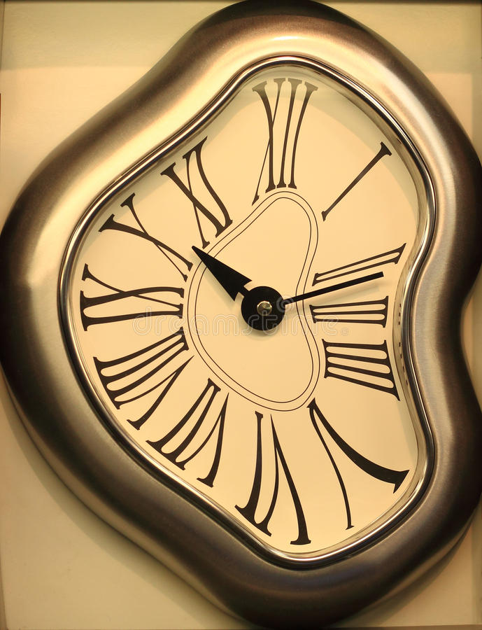 Odd Wall Clock stock photo