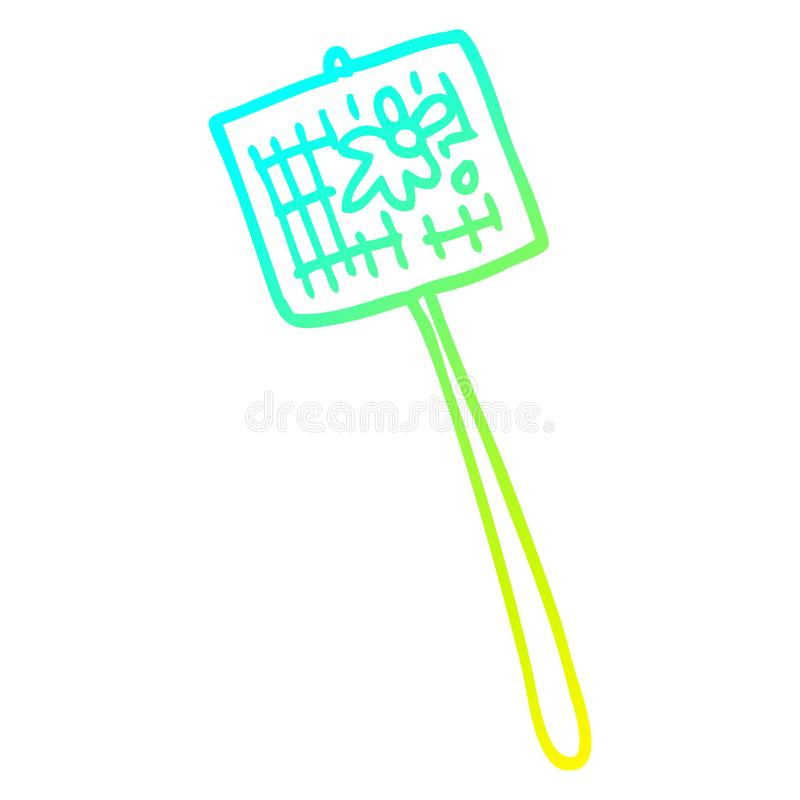 A creative cold gradient line drawing cartoon fly swatter royalty free illustration