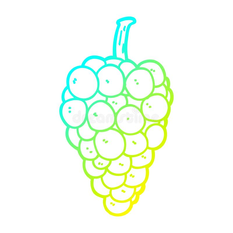 A creative cold gradient line drawing cartoon grapes. An original creative cold gradient line drawing cartoon grapes vector illustration